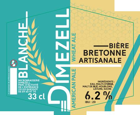 Dimezell Blanche American Wheat Ale - Bière artisanale bretonne
