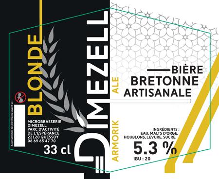 Dimezell Blonde Armorik Ale - Bière artisanale bretonne